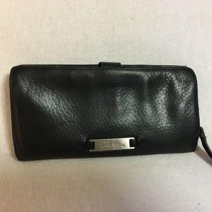 Cole Haan Bags - COLE HAAN Black Leather Wallet w/Zip Around Pocket